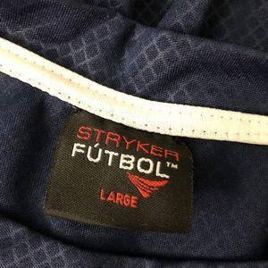 Stryker Shirts - Styker Futbol Soccer USA Jersey Shirt Large Blue